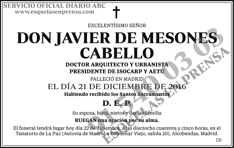 Javier de Mesones Cabello